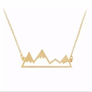 Gold Mountains Adjustable Necklace